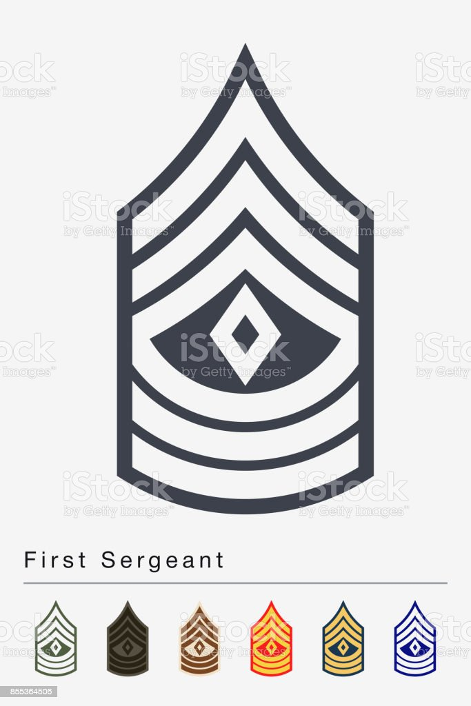 Military Ranks And Insignia Stripes And Chevrons Of Army Stock