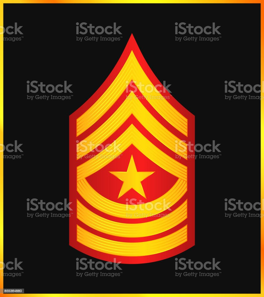 Military Ranks and Insignia. Stripes and Chevrons of Army vector art illustration