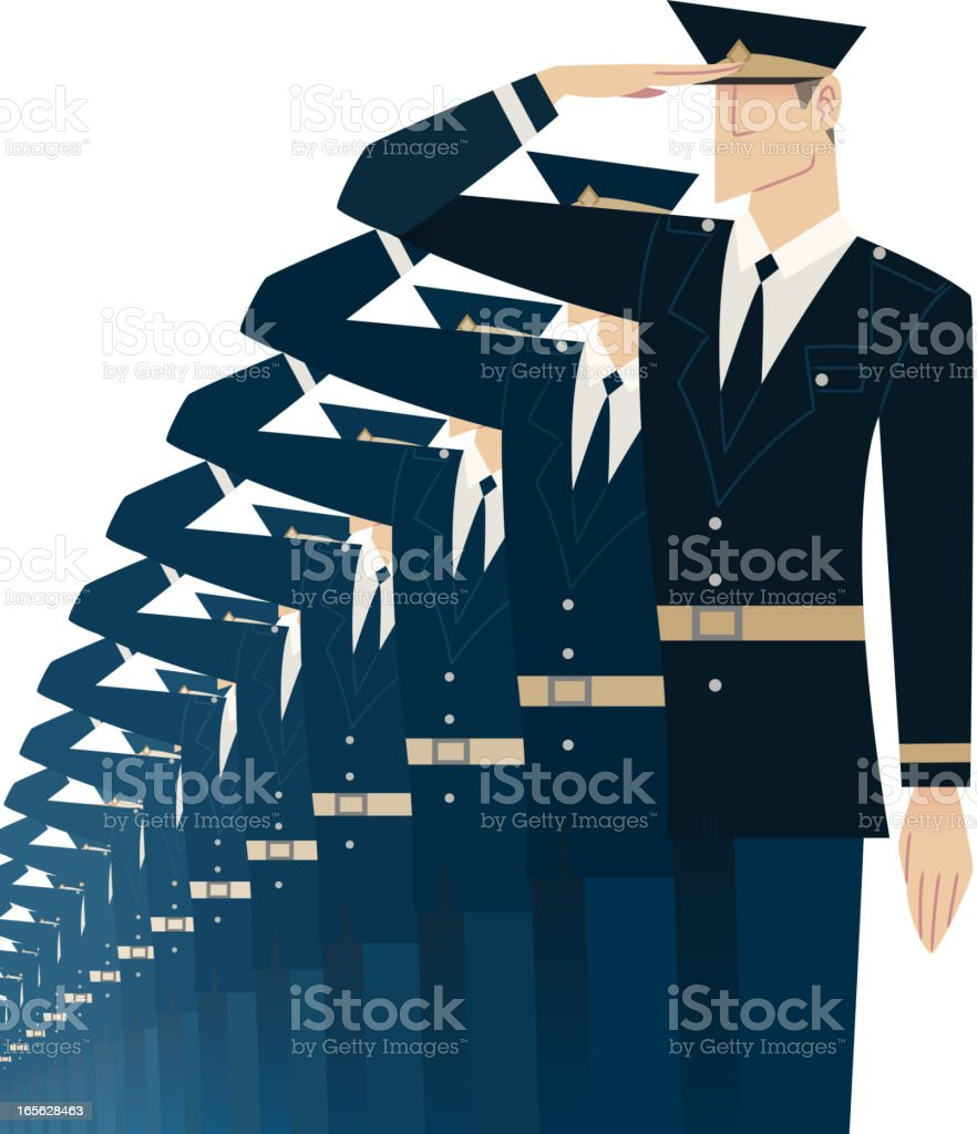 Military Salute! royalty-free stock vector art