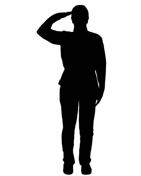 Military salute Military salute saluting stock illustrations