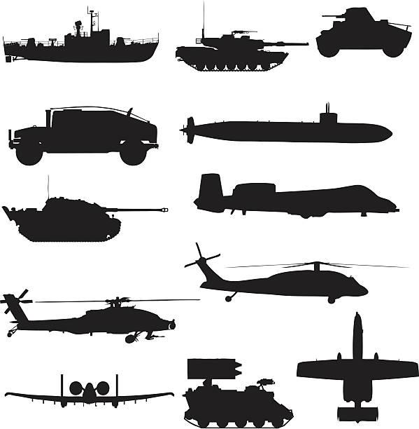 illustrations, cliparts, dessins animés et icônes de collection de vecteur de silhouette militaire (jpg - sous marin