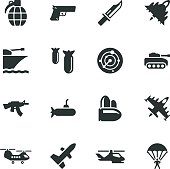 Military Silhouette Icons