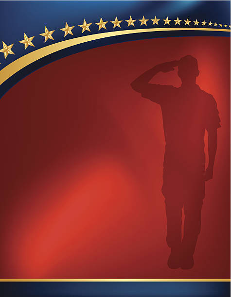 Military Soldier Salute Background - Patriotic Military Soldier Salute Background - Patriotic illustration. Check out my