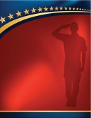 Military Soldier Salute Background - Patriotic