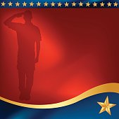 Military Soldier Salute Background