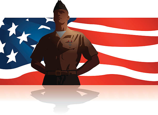 "Military Soldier Salute US Flag Background Graphic silhouette background illustration of Military Soldier Salute US Flag. Check out my ""World War Two"" light box for more. major military rank stock illustrations"