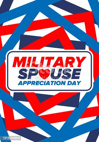 istock Military Spouse Appreciation Day. Celebrated in the United States. National Day recognition of the contribution, support and sacrifice of the spouses of the Armed Forces. Poster, card, banner. Vector 1313255605