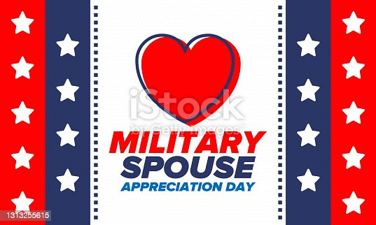 istock Military Spouse Appreciation Day. Celebrated in the United States. National Day recognition of the contribution, support and sacrifice of the spouses of the Armed Forces. Poster, card, banner. Vector 1313255615
