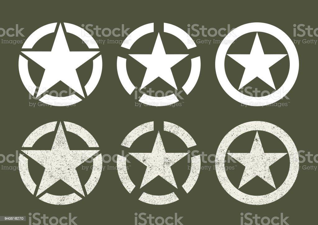 U.S Military stars vector art illustration