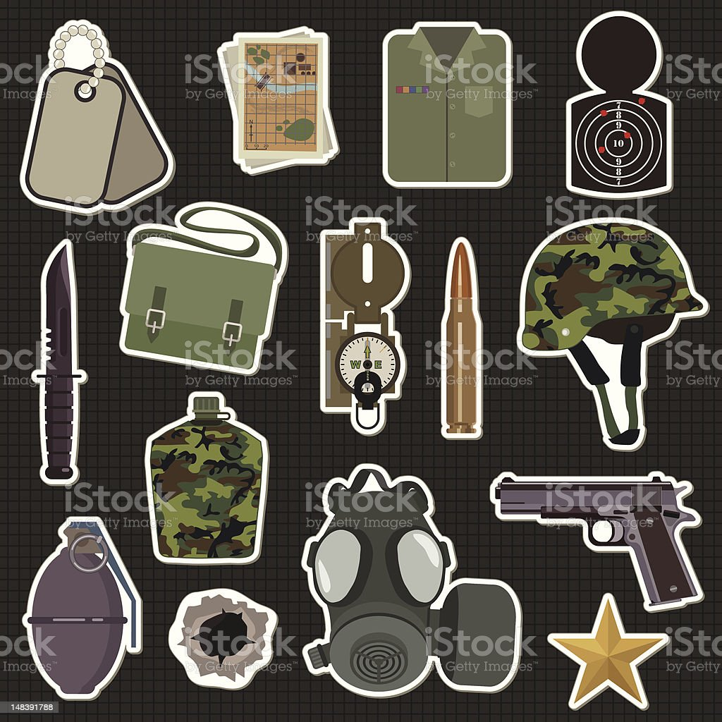 military stickers royalty-free military stickers stock vector art & more images of army
