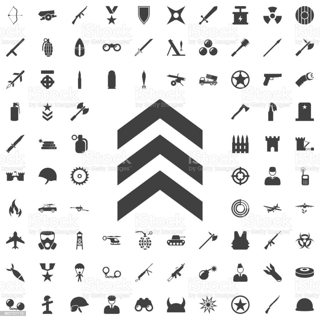 Military symbol icon image vector art illustration