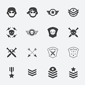 Military symbol icons . vector . illustration.