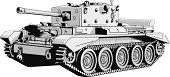 Military tank illustration vector