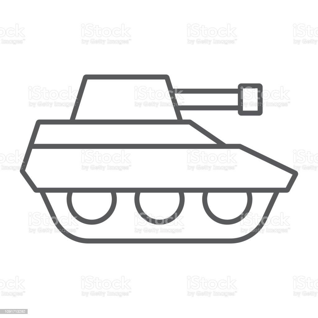 Icône De Fine Ligne Tank Militaire Guerre Et Armée Panneau