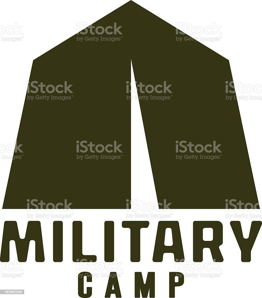 military tent icon vector art illustration