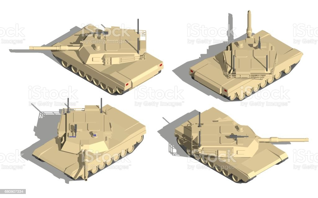Military Transportation isometric vector. tank with machine gun. royalty-free military transportation isometric vector tank with machine gun stock vector art & more images of activity