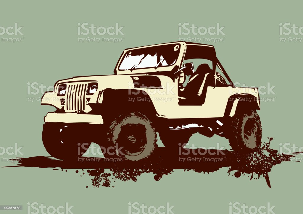 military vehicle vector art illustration