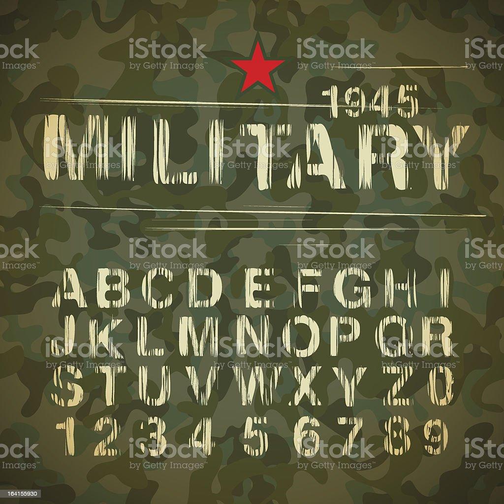 Military Vintage Alphabet royalty-free stock vector art
