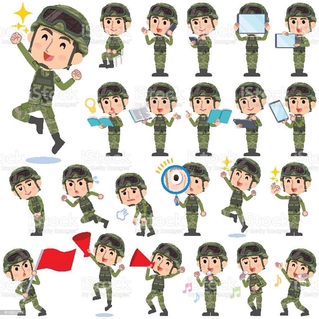military wear man 2 ベクターアートイラスト