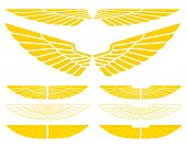 Military wings for logos or symbols