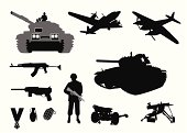 Military WWII Vector Silhouette