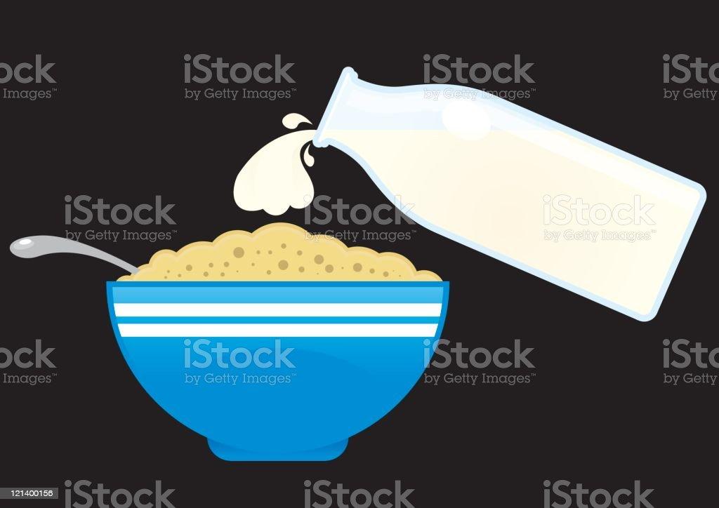 Milch und Zerealien – Vektorgrafik