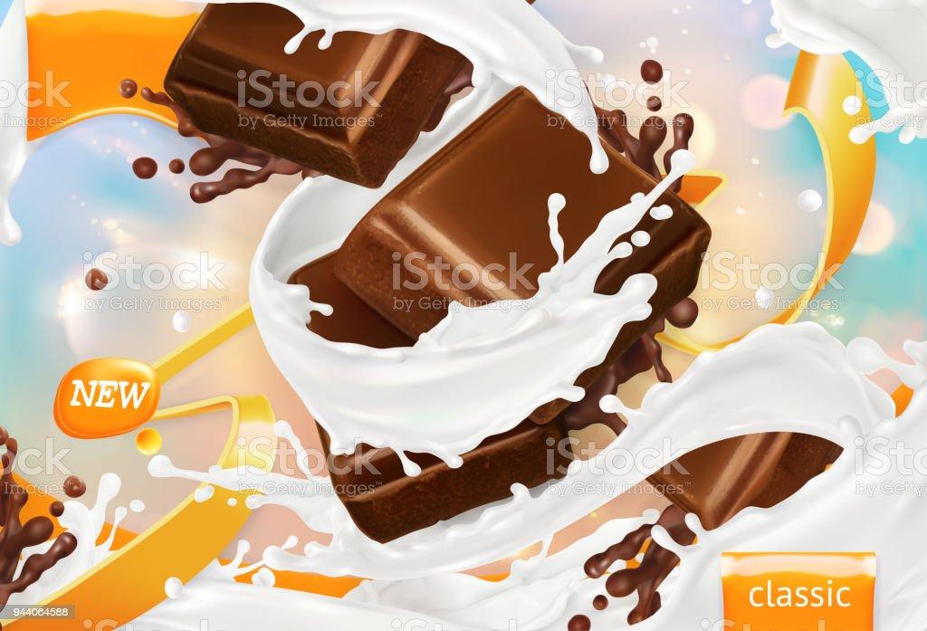 ミルクとチョコレートホワイト ...
