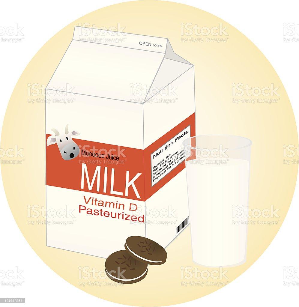 Milk and Cookies royalty-free stock vector art