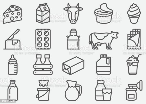 Milk and dairy products line icons vector id915141034?b=1&k=6&m=915141034&s=612x612&h=gn7vdnojunvd h79qvyy3q lyed 0uyprvgyhpkur2q=