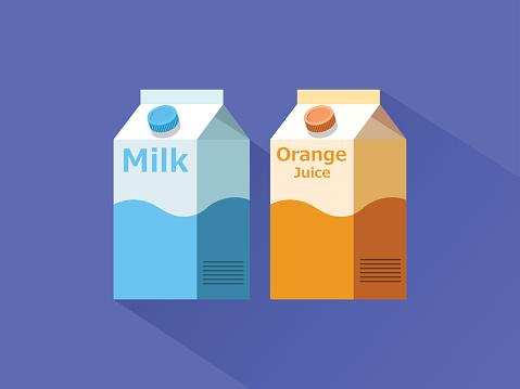 Milk and Juice Box Icon