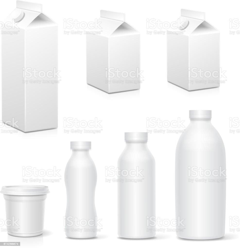 Lait et jus de carton blanc paquet boîtes collection réaliste produits laitiers emballer simulé le vecteur lait et jus de carton blanc paquet boîtes collection réaliste produits laitiers emballer simulé le vecteur vecteurs libres de droits et plus d'images vectorielles de affaires libre de droits