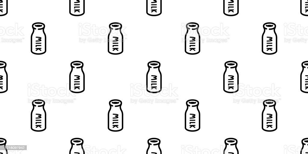 Milk Bottle Seamless Pattern Vector Cartoon Scarf Isolated Repeat Wallpaper Tile Background Textile Doodle Illustration Design Stock Illustration Download Image Now Istock