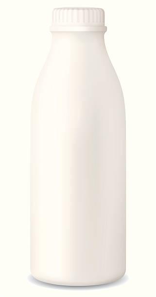milk bottle vector art illustration