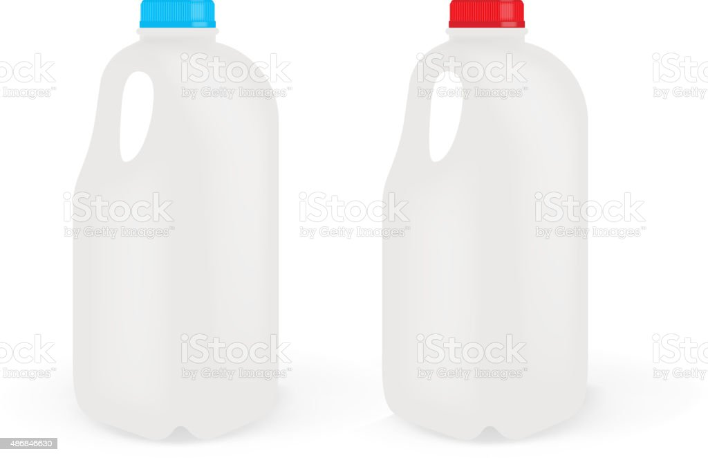 Milk Bottles vector art illustration