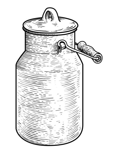 Line Drawing Jug : Royalty free milk jug clip art vector images