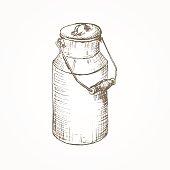 Milk cans sketch