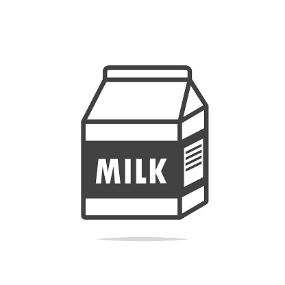 Milk Carton Box Icon Vector Isolated Stock Illustration ...