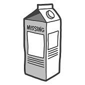 Vector illustration of a milk carton