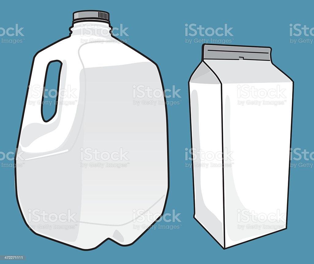 Milk Cartons Template vector art illustration