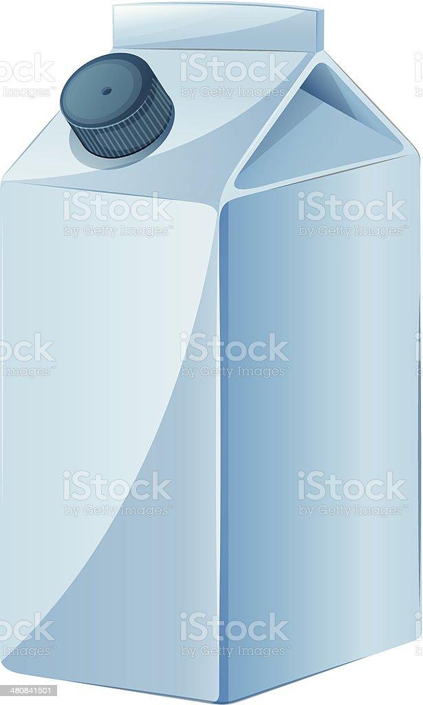 Milk container vector art illustration