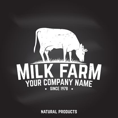Milk Farm Badge or Label