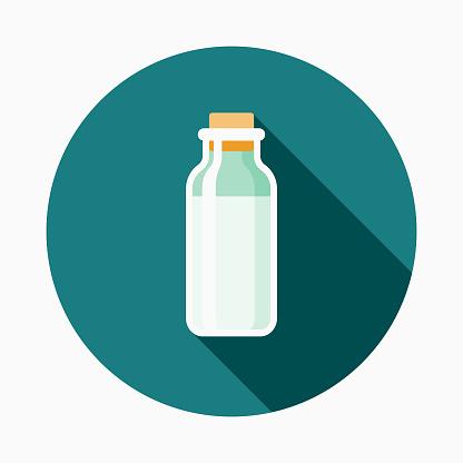 Mjölk Platt Design Baby Ikonen vektorgrafik och fler bilder