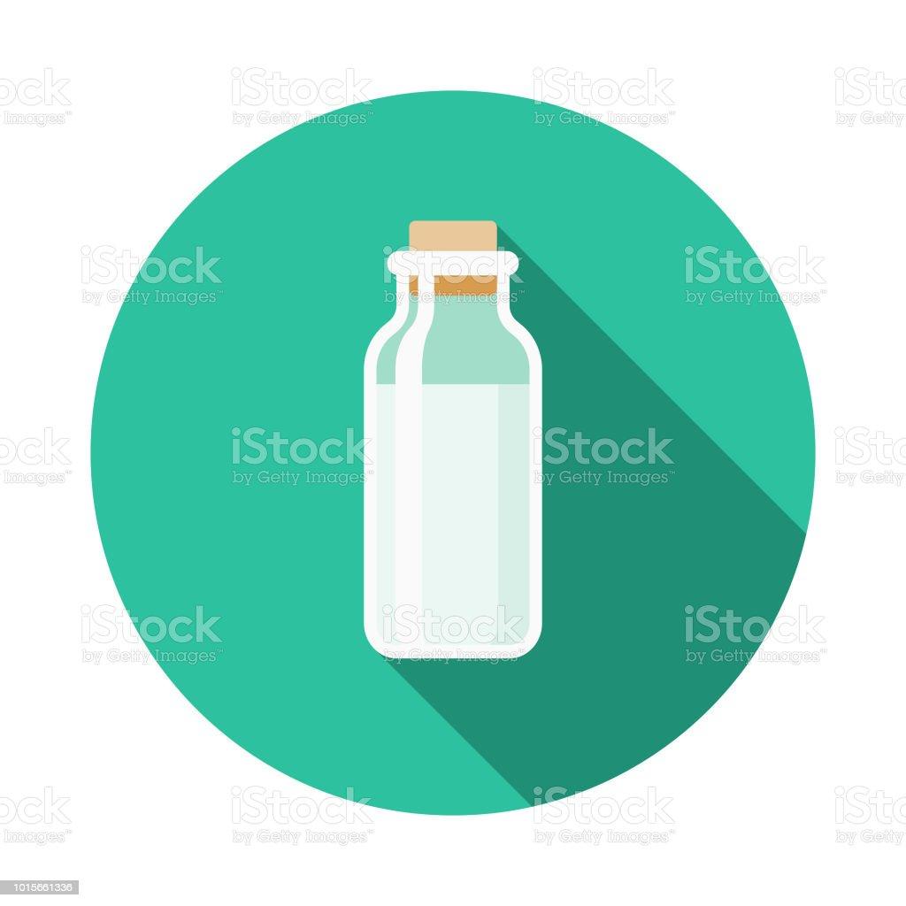 Milk Flat Design Breakfast Icon vector art illustration