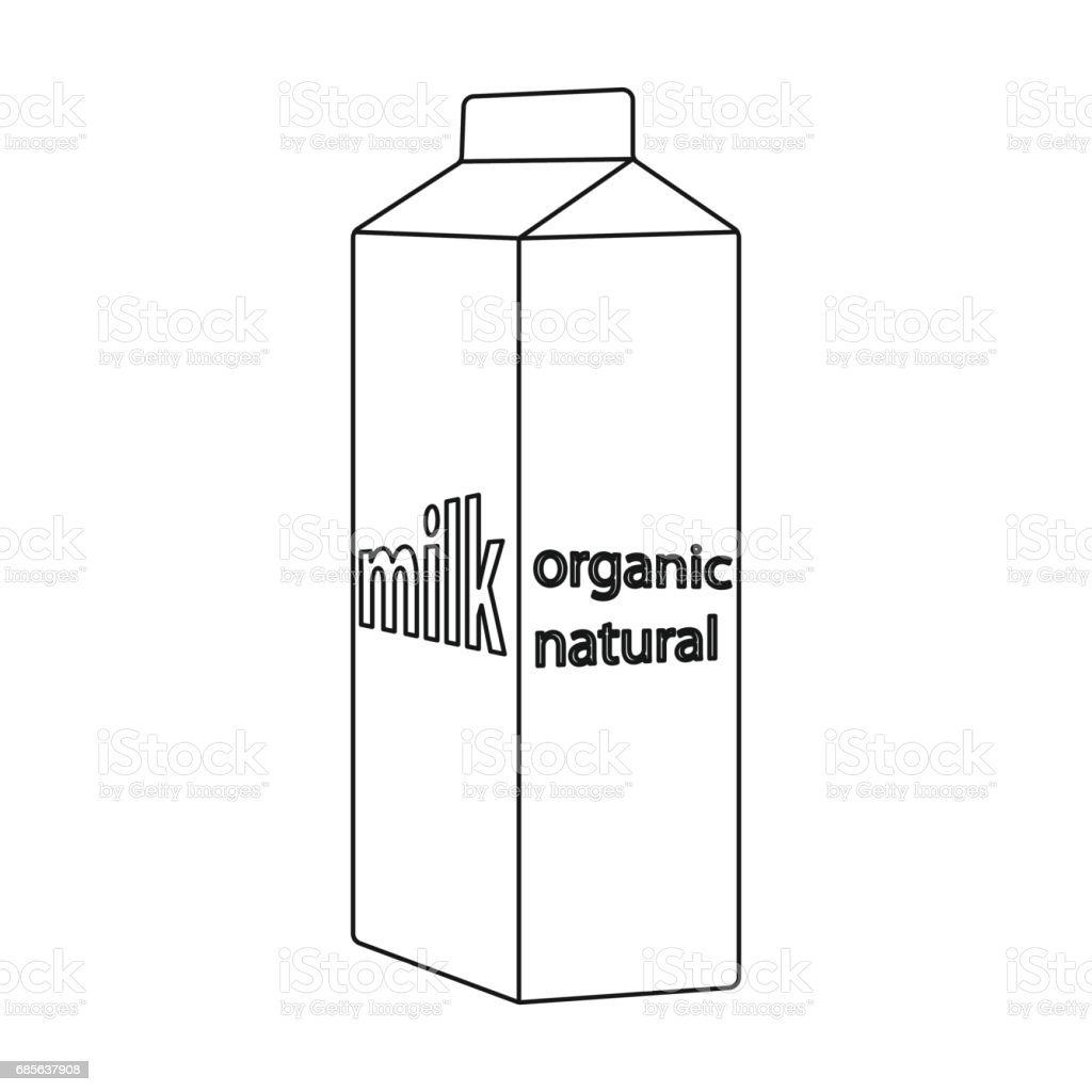 Milk gable top carton package icon in outline style isolated on white background. Milk product and sweet symbol stock vector illustration. royalty-free milk gable top carton package icon in outline style isolated on white background milk product and sweet symbol stock vector illustration 0명에 대한 스톡 벡터 아트 및 기타 이미지