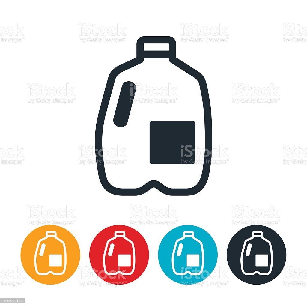 Milk Gallon Icon vector art illustration