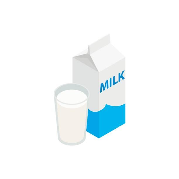 Milch-Symbol, isometrischen 3d Stil – Vektorgrafik