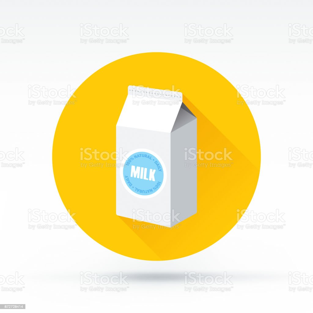 Milk Icon vector art illustration