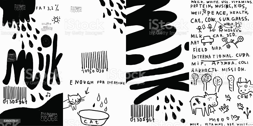 Milch-Verpackung – Vektorgrafik