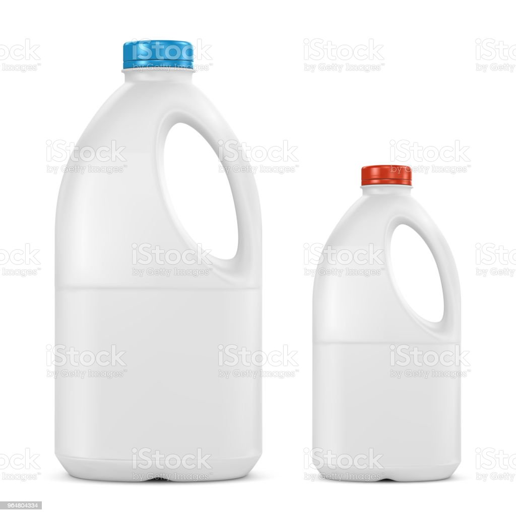 Milk plastic bottle isolated on white royalty-free milk plastic bottle isolated on white stock vector art & more images of blue