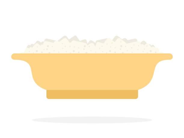 milchbrei in platte - risotto stock-grafiken, -clipart, -cartoons und -symbole